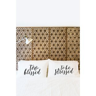 2 Piece Too Blessed Pillowcase Set