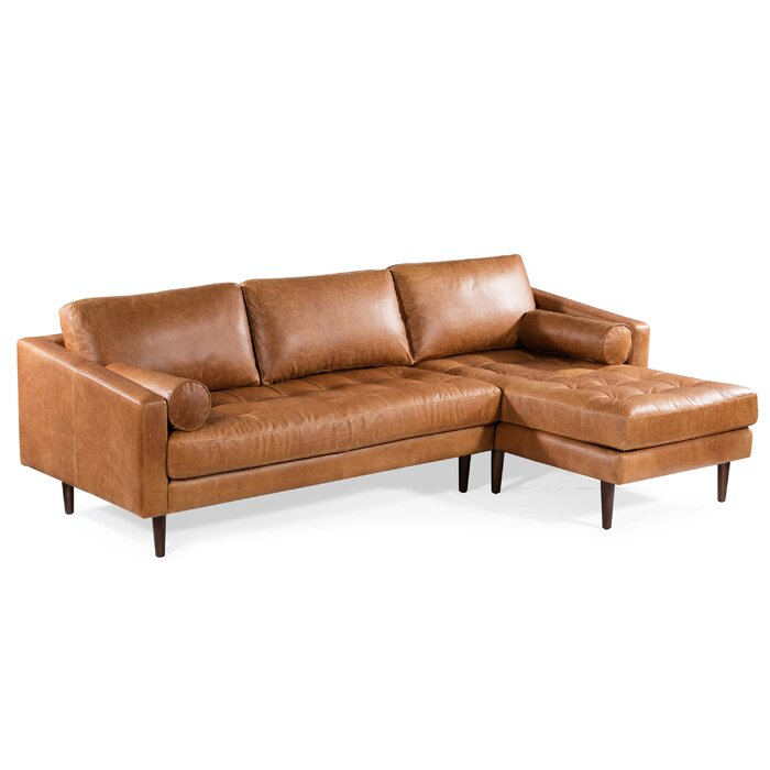 Miraculous Kate Leather Sectional Pabps2019 Chair Design Images Pabps2019Com