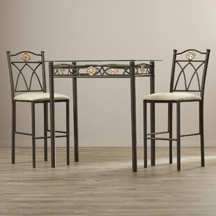Cloville 3 Piece Counter Height Pub Table Set