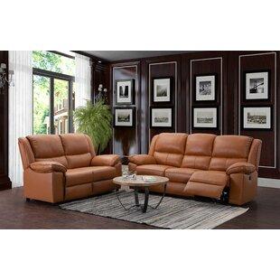Watkin 2 Piece Leather Reclining Sofa Set By Brayden Studio