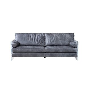 Inexpensive Nayeli Genuine Leather Sofa by 17 Stories Reviews (2019) & Buyer's Guide