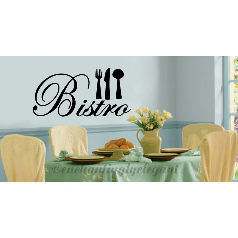 Winston Porter Grose Bistro Silverware Kitchen Decor Vinyl Wall