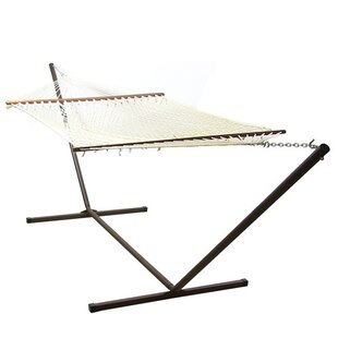 Highland Dunes D'Amato Cotton Hammock with Stand