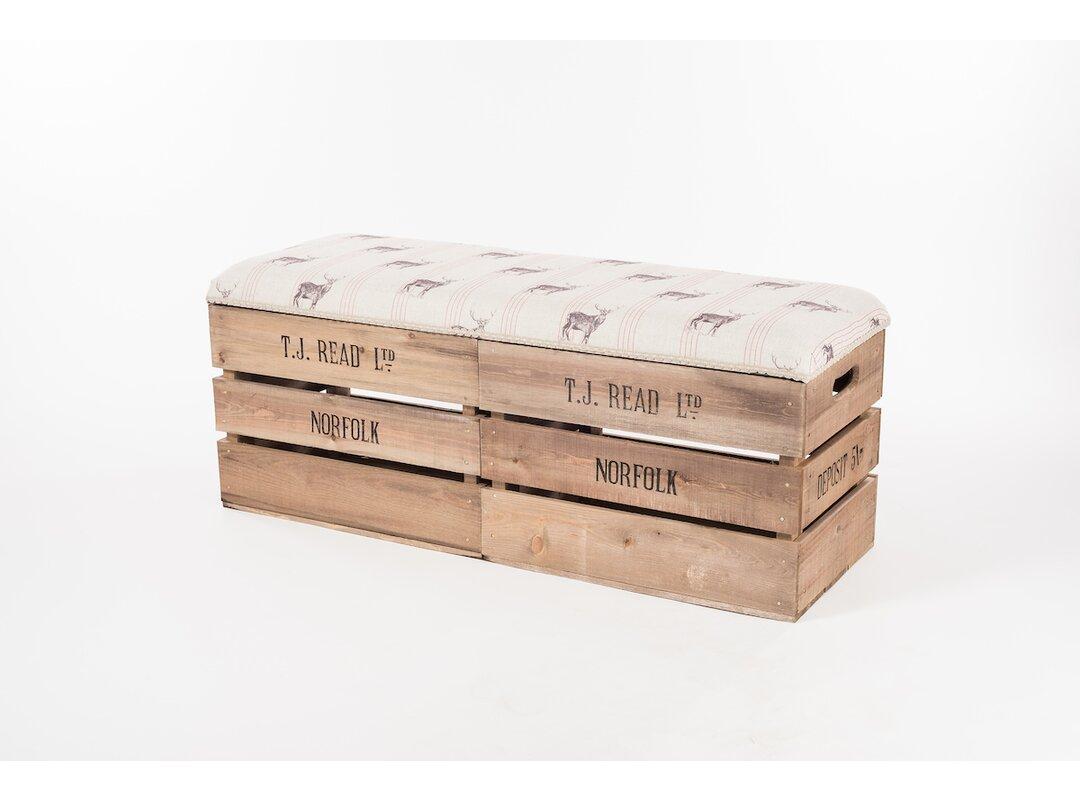 Talmo Wood Storage Bench
