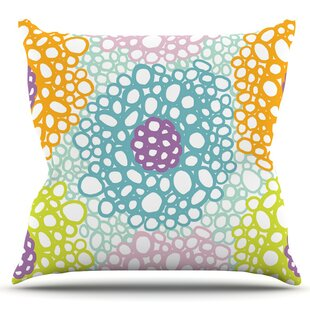 Bubbly By Emine Ortega Outdoor Throw Pillow by East Urban Home