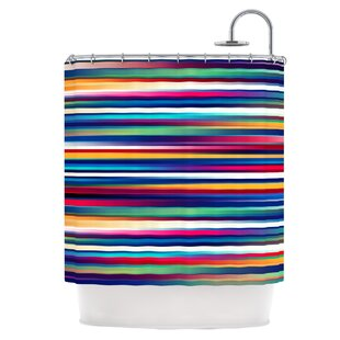 Blurry Lines Single Shower Curtain