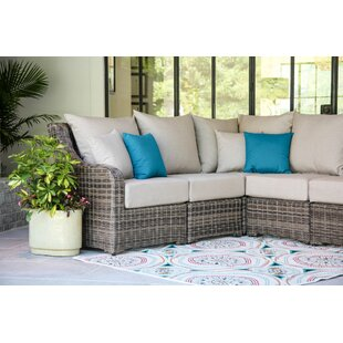 Valentin Patio Sectional with Sunbrella Cushions by Laurel Foundry Modern Farmhouse