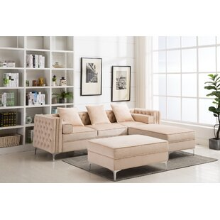Zaida Reversible Sectional with Ottoman by House of Hampton
