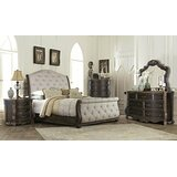 Aguila Upholstered Sleigh Bed by Fleur De Lis Living