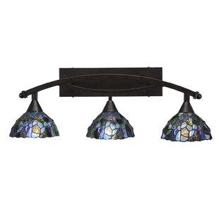 Astoria Grand Austinburg 3-Light Mosaic Tiffany Glass Shade Vanity Light