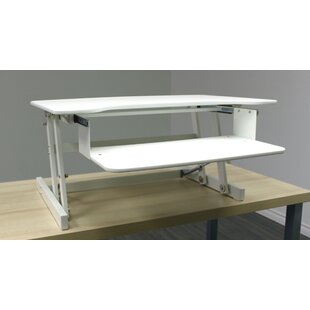 Rocelco ADR Height Adjustable Standing Desk Converter by Symple Stuff Find