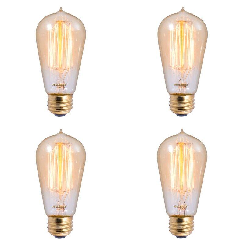 3-Pack Nostalgic Edison Light Bulb -Spiral T14 Vintage Style Repro 40W