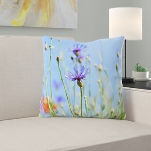 Alpine Cornflower Throw Pillow