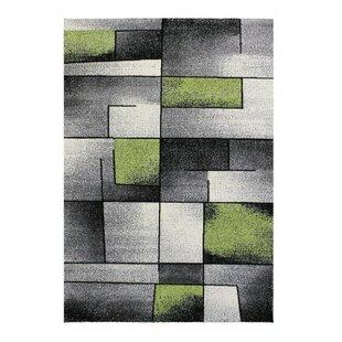 Haight Flatweave Green/Grey Rug by Orren Ellis