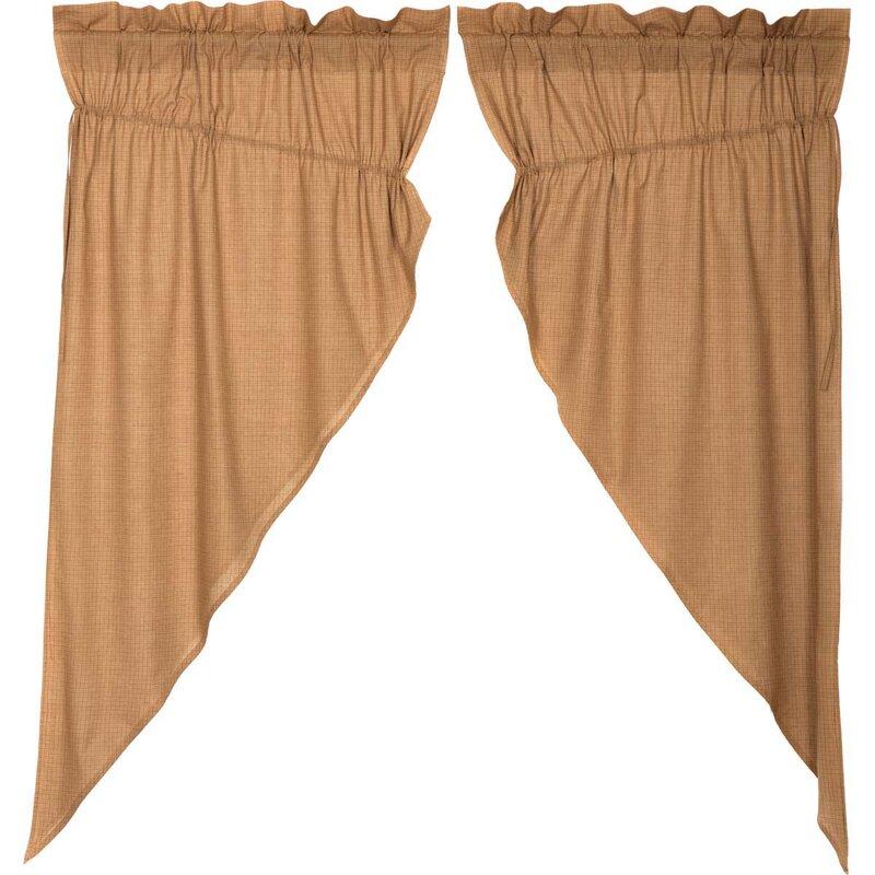 Caulfield Lined Plaid Kitchen Curtains