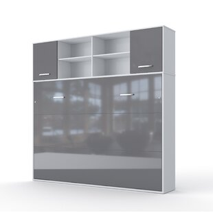 Daysi Horizontal Full Storage Murphy Bed with Mattress by Orren Ellis