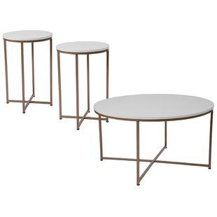 Bretz 3 Piece Coffee Table Set Wrought Studio