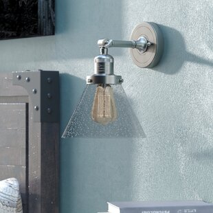 Aldona Cone 1-Light Armed Sconce By 17 Stories Wall Lights