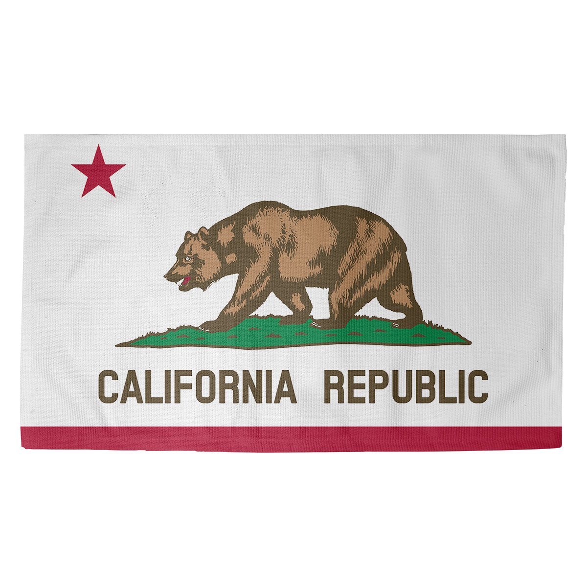 Ebern Designs Fawcett California Flag Indoor Door Mat Wayfair