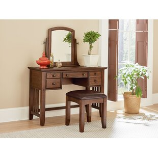 Charlton Home Romo Vanity with Mirror