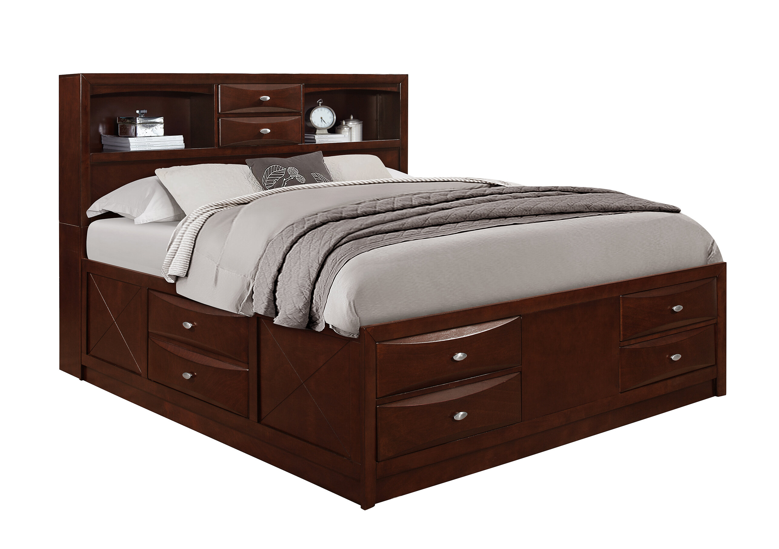 Cal King Storage Platform Bed | Wayfair