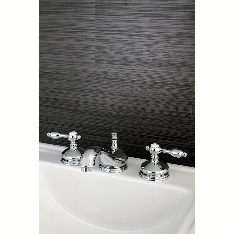 Kingston Brass Tudor Widespread Bathroom Faucet with Brass Pop-Up ...