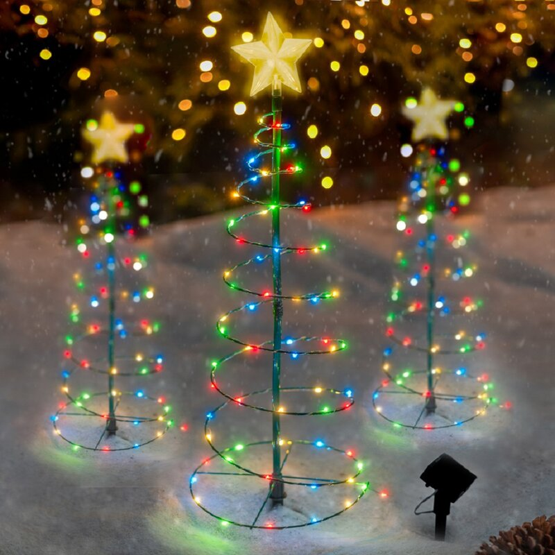 Red/Blue/Yellow Led Christmas 70 Lights Lighted Tree & Branches by The Holiday Aisle