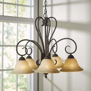 Alcott Hill Gaines 5-Light Shaded Chandel..