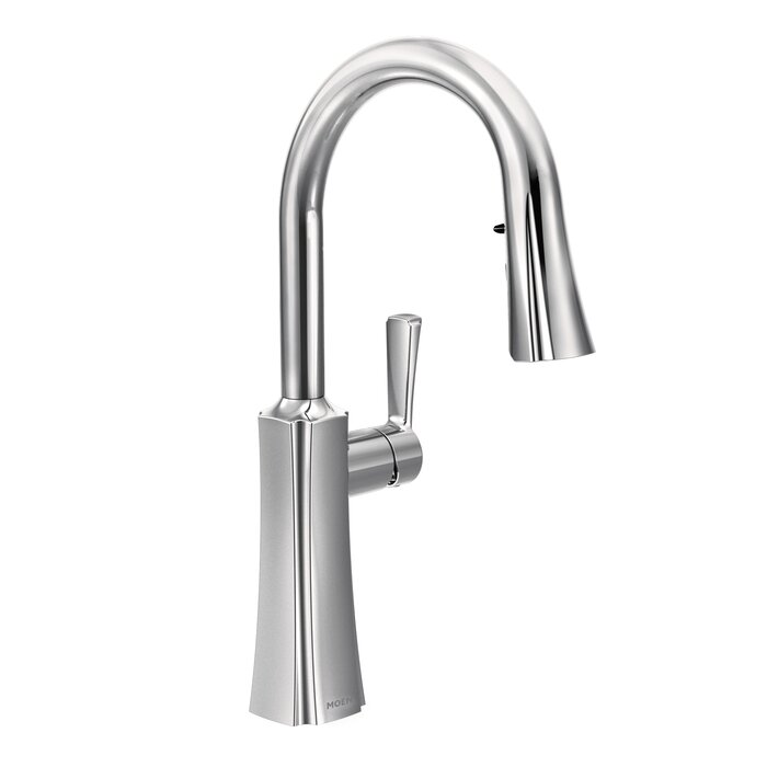 Etch Pull Down Single Handle Kitchen Faucet with Reflex™ and Duralock™