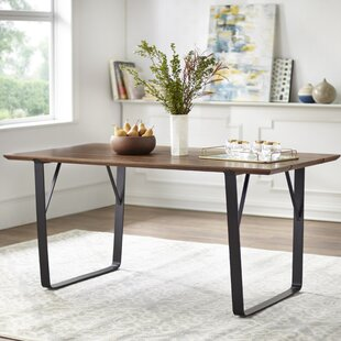 Fruithurst Solid Wood Dining Table George Oliver