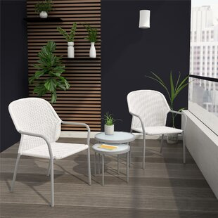 Neesa 2 Seater Rattan Conversation Set By CosmoLiving By Cosmopolitan