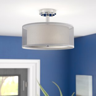Pyle 3-Light Semi Flush Mount by Latitude Run