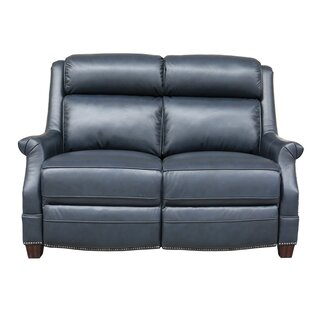 Cheadle Leather Reclining Loveseat by Orr..