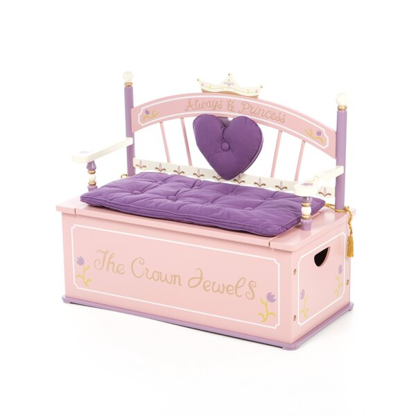 Kids Storage Bench Part - 33: Levels Of Discovery Princess Kids Bench With Storage Compartment U0026 Reviews  | Wayfair