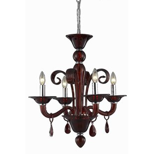 Fleur De Lis Living Brent 4-Light Candle Style Chandelier