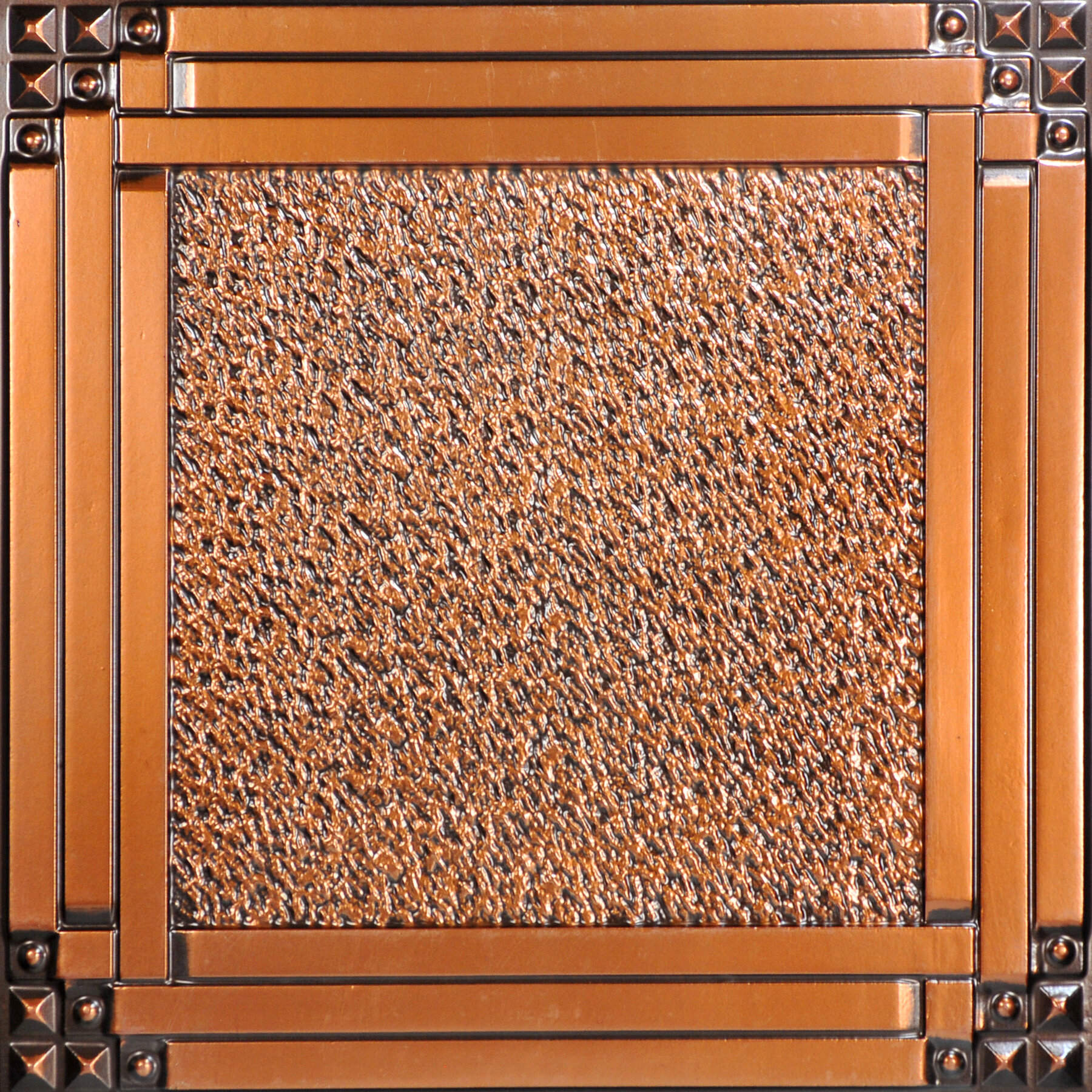 Fromplaintobeautifulinhours 2 Ft X 2 Ft Lay In Or Glue Up Ceiling Tile In Antique Copper Wayfair