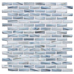 Kiln Sky 1 X 2 Gl Mosaic Tile In Blue