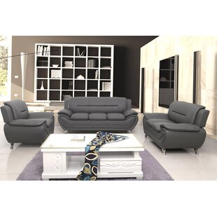 Grey Leather Living Room Sets You\'ll Love in 2019 | Wayfair