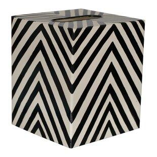 Worlds Away Zebra Tissue Box Cover
