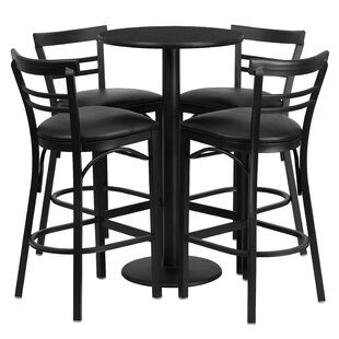 Naro 5 Piece Pub Table Set Red Barrel Studio