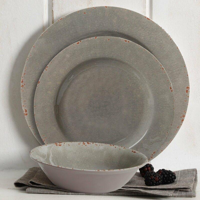Scurio 12 Piece Melamine Dinnerware Set Service for 4 & Scurio 12 Piece Melamine Dinnerware Set Service for 4 u0026 Reviews ...