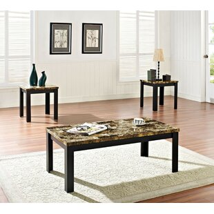 Marcelino 3 Piece Coffee Table Set by Fleur De Lis Living