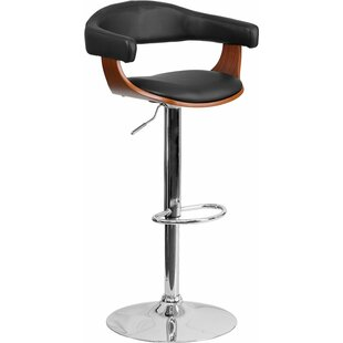 Crotty Mid Back Adjustable Height Swivel Bar Stool George Oliver