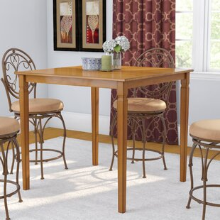 Charlton Home Trenton Square Wood Counter Height Dining Table