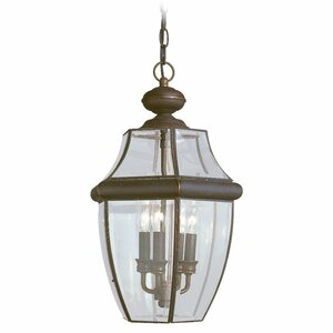 Knudson 3-Light Outdoor Hanging Lantern