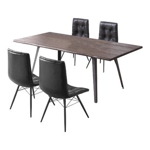 Malley 5 Piece Dining Set 17 Stories
