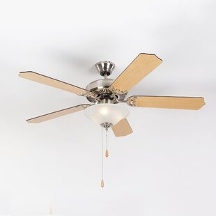 Affordable Bank 52 5-Blades Ceiling Fan By Charlton Home
