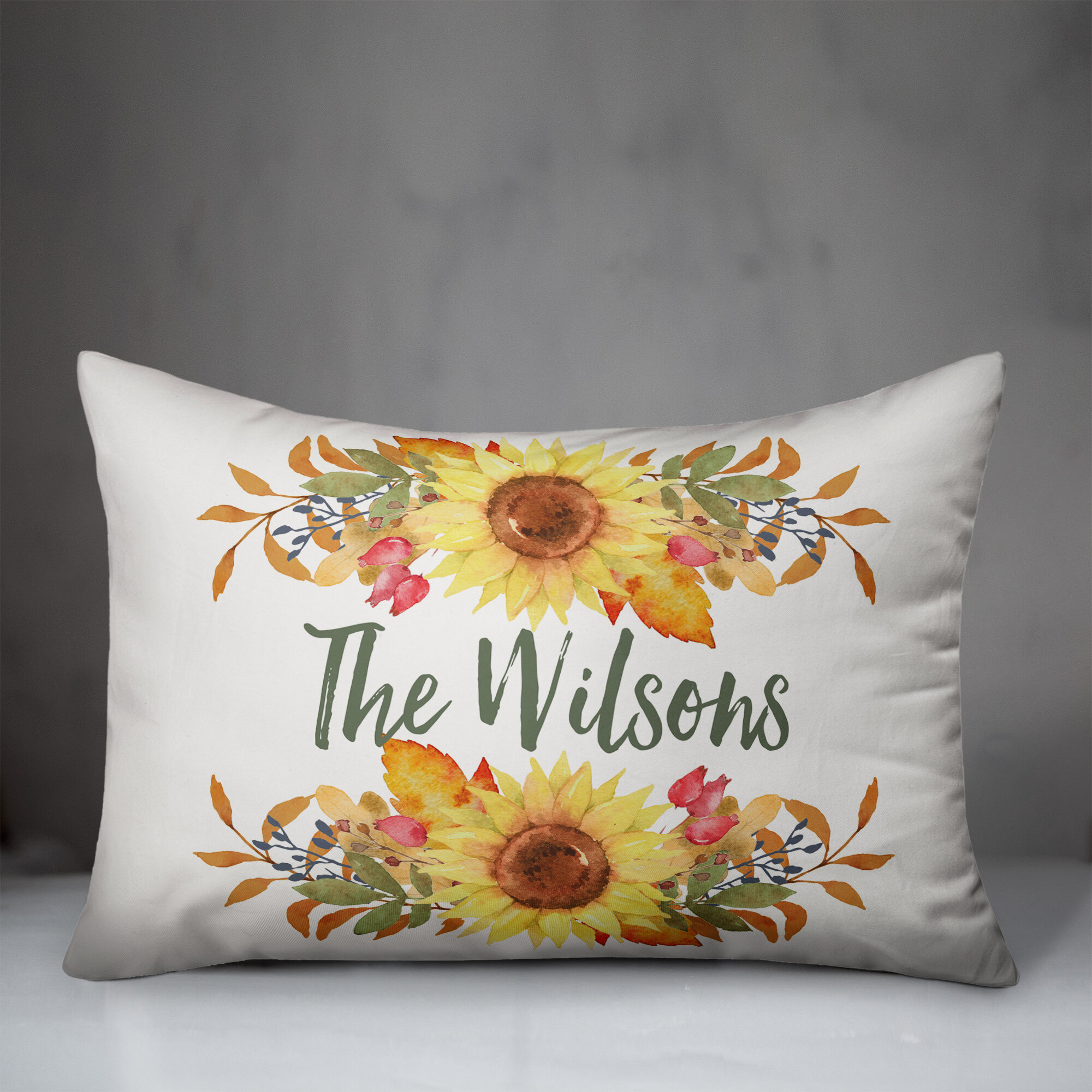 August Grove Shepparton Sunflower Lumbar Pillow Cover Wayfair