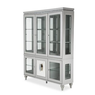 Melrose Plaza Lighted China Cabinet