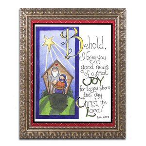 'Great Joy' by Jennifer Nilsson Framed Graphic Art